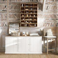 3-türiges Buffet aus massivem Mangoholz, Weiß | Maisons du Monde