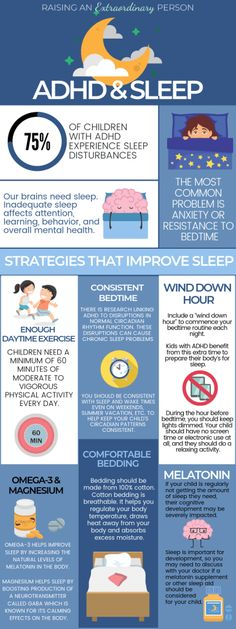 and Sleep: 6 Tips For a Better Sleep · - ADHD & Autism Resources Infographic About ADHD & Sleep Disturbances plus ways to help kids with ADHD sleep better.Infographic About ADHD & Sleep Disturbances plus ways to help kids with ADHD sleep better. Adhd Odd, Adhd And Autism, Adhd Brain, Adhd Help, Adhd Diet, Adhd Strategies, Adhd Symptoms, Adult Adhd, Autism Resources