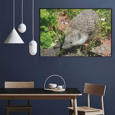 hedgehog- cute visit to the garden 1000-Piece Wooden Photo Puzzles | ID: D5225891