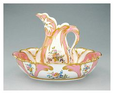 Rococo decorative objects - Sevres Porcelain Ewer and Basin circa 1756 from The Getty Museum Getty Museum, Claude, Classic Image, Antique China, China Porcelain, Painted Porcelain, Fine China, Art Decor, Just For You