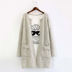 2018 New Fashion Autumn Spring Women Sweater Cardigans Casual Warm Long Design Female Knitted Coat Cardigan Sweater Lady Long Sweater Coat, Cardigan Sweaters For Women, Long Sweaters, Cardigans For Women, Long Sleeve Sweater, Coats For Women, Long Cardigan, Ladies Sweaters, Oversized Cardigan