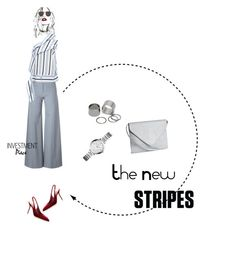 """""""The New Stripes"""" by duciaxoxo ❤ liked on Polyvore featuring Emanuel Ungaro, MSGM, H&M, Illesteva, Dolce&Gabbana, Pieces and FOSSIL"""