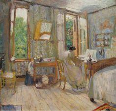 Edouard Vuillard / Interior of a bedroom
