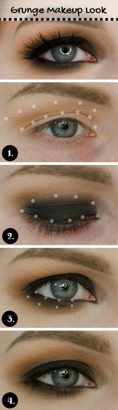 Grunge Makeup Tutorial                                                                                                                                                                                 Más