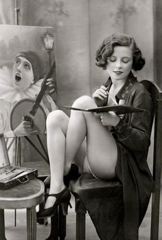 """L'artiste"", French postcard, 1925 [NSFW] - Imgur"