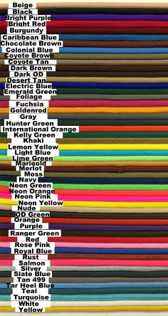 Supply Captain: 100 FT SOLID COLOR 550 PARACORD