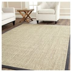 Avalon Natural Fiber Accent Rug - Marble / Grey (2' 6 X 4') - Safavieh, Beige, Durable