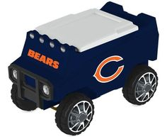 Custom Manufactured (availability) 7-10 Business Days (leaves warehouse) Let the fun begin with your remote control Chicago Bears Rover Cooler. The Rover was created as a means to move a heavy case of