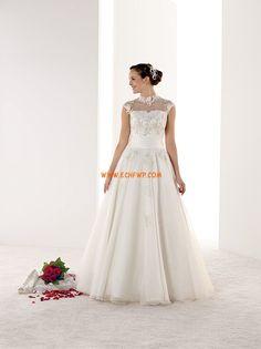 Longo Frente única Elegante & Luxuoso Vestidos de Noiva 2014