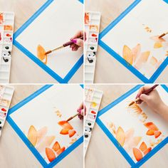 To add definition to your water colors, let the first wash dry. Then add details that will stand out.