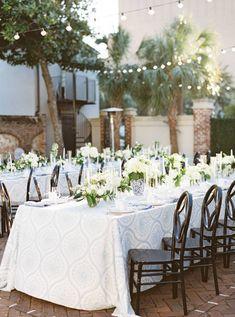 Charleston wedding inspired by Sunday family dinners in the backyard | Charleston Real Weddings