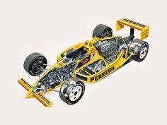 Penske Indy race car - cutaway