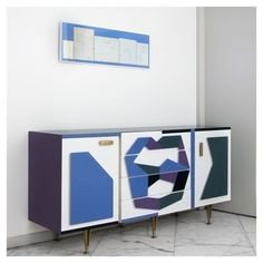 """styletaboo: """" Gio Ponti - The Italian Culture Institute in Stockholm [Sweden, """" Types Of Furniture, Cool Furniture, Painted Furniture, Sideboard Furniture, Modern Sideboard, Gio Ponti, Buffet Design, Vintage Furniture Design, Home Goods Decor"""
