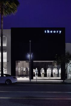 Shop interiors for Theory by Nendo
