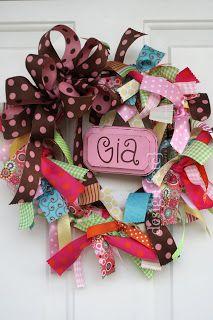 design {etc}: ribbon wreath