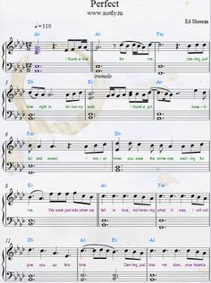 Ed Sheeran — Perfect Piano Sheets from Divide Songbook #FavoritePianoPlayingTips