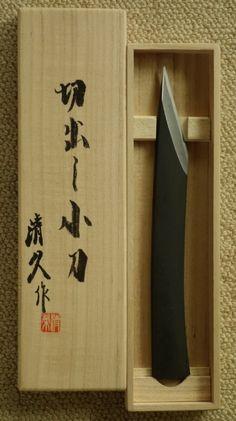 "Kiyohisa White Steel Kiridashi ""R"" with Kamaji in Signed Box - Click Image to Close Tactical Survival, Survival Tools, Japanese Blades, Armas Ninja, Edc Gadgets, Metal Forming, Neck Knife, Diy Cnc, Outdoor Tools"
