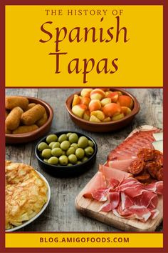 Tapas are a fundamental way of life in Spain. These tasty small dishes are found in every bar, cafe, restaurant and home throughout Spain. There are many variations of tapas. Meaning you can always find something delicious for everyone. #tapas #spanishfood #spain #spanishtapa Spanish Tapas, Spanish Food, Cafe Restaurant, Spain, Tasty, Dishes, Bar, Canning, Life
