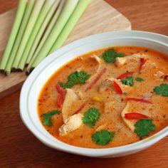 Tom Kha Gai- Coconut Lemongrass Soup with Chicken