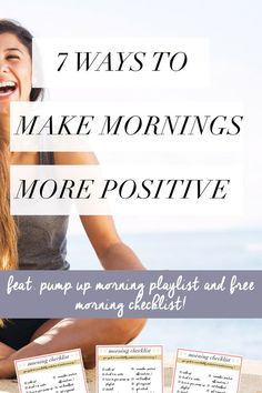Do you hate mornings? Are those 8 a.m.s really getting to you? Checkout these tips on how to make mornings great, along with a pump-up morning playlist and FREE morning checklist #mornings #beauty #health #positivity #inspiration