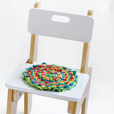 rag rug chair cushion or maybe placemat/pot holder