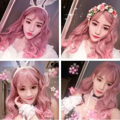 """Japanese harajuku lolita pink wavy hair wigs - Use the code """"batty"""" at Sanrense for off your order! Pink Hair, Hair Bows, Lolita Hair, Cool Makeup Looks, Best Wigs, Japanese Hairstyle, Hair Reference, Cosplay Wigs, Hair Art"""