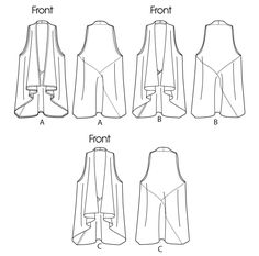 I can see lots of possibilities in this! Vogue pattern 8777: MISSES' VEST: Loose-fitting, unlined vest has fronts extending into collar and lower back (fronts cut on crosswise grain of fabric), and no side seams. Wrong side of fabric may show.   FABRICS: Lightweight Jersey, Lightweight Double Knit, Cotton Knit.