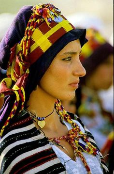 Africa | A berber woman attending the marriage of Princess Lalla Myriem in Morocco | ©  Philippe Saharoff