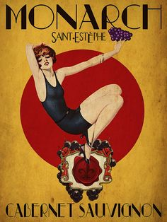 Vintage Wine Advertisment Fine Art Print - Cinema Photography