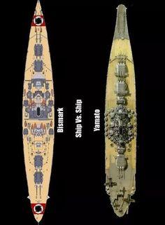 BB Ship Comparisons: Bismarck vs. Yamato...