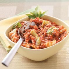 Delicious and healthy meal.  Perfect for a cool evening.  Very easy!