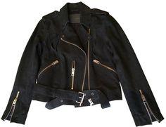 ALL SAINTS Black suede biker jacket with. $517.16 thestylecure.com