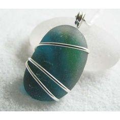 sea glass jewelry. cool way to wrap