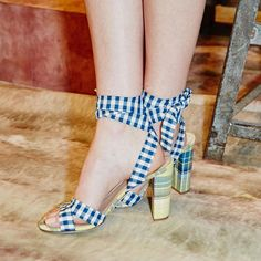 Zoom in on the best shoes from the spring 2016 runways (like gingham at J Crew!) - see more here
