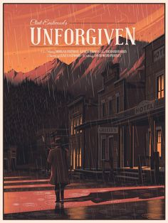 Unforgiven is one of my favourite westerns and a fitting send off to Clint Eastwood's iconic reign of the genre. Polish Movie Posters, Movie Poster Art, Great Films, Good Movies, Street Art, Alternative Movie Posters, Clint Eastwood, Cool Posters, Action Movies