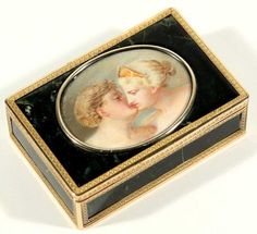 A Gold FABERGE Snuff BOX, 19th C.