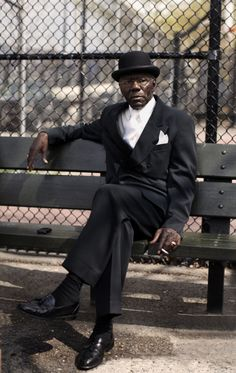"""""""What gives me hope in the world?  Seeing men still sitting in the park with style and class.  The world is good with men like this."""""""