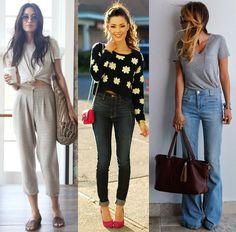 Peças de cintura alta dão impressão de pernas mais longas. | 42 segredos de estilo que fazem toda a diferença no look