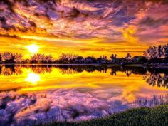 ~~~~ Sweet Allure ~ by Ivan Pena ~~~~  ........Tropical Park ~ Miami ~ Florida........ Sunrise Photography, Reflection Photography, Hdr Photography, Amazing Photography, Photography Wallpapers, Photography Lessons, Beautiful Sunset, Beautiful World, Beautiful Places
