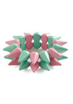 Spike Things Up Bracelet - Green, Pink