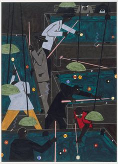 Jacob Lawrence, Pool Parlor, 1942