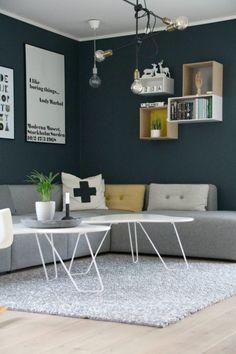 Nyanser av blått Renz, Sombre, Corner Desk, Loft, Studio, Interior, Inspire, Table, Inspiration