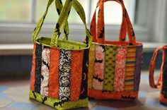 Art Trick or Treat Bags for Halloween sew