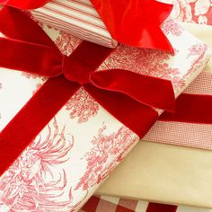 Instead of using paper gift wrap this year, why not try wrapping your Christmas gifts in your favorite cotton fabrics? http://www.bhg.com/christmas/gift-wrapping/pretty-gift-wraps-and-bows/?socsrc=bhgpin121514fabricwrappingpaper&page=8
