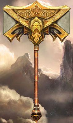 War Hammer of Zeus Fantasy Weapons, Fantasy Rpg, Medieval Fantasy, Weapon Concept Art, Armor Concept, Warhammer Fantasy, God Of War, Larp, Dungeons And Dragons