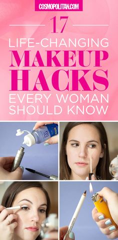 These makeup hacks change EVERYTHING! Cosmopolitan.com's beauty editors show you how to hack your way to the perfect winged eyeliner, smokey eye, and dark circle cover-up. Click through for 17 expert tips and instructions that will transform your beauty routine!