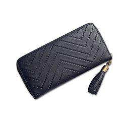 Sale 14% (8.99$) - Women Lady Tassel PU Leather Clutch Wallet Long Card Holder Case Purse