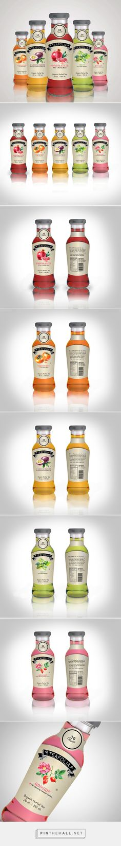 Teafolia Iced Tea by Rachel Moskowitz. Source: Behance. Pin curated by #SFields99 #packaging #design