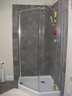 Bathroom Corner Shower beautifully remodeled bathroom in reston, va. #bathroom #shower