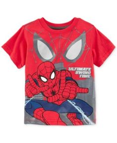 NWT  TODDLER BOYS SPIDERMAN SHORT SLEEVE WALL-C RED SIZE 2T  #MARVEL #Everyday